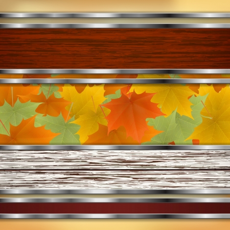 Abstract autumn background with maple leaves. Vector