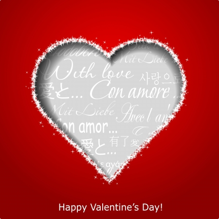 Abstract heart on red paper background  Valentines day greeting card illustration Stock Vector - 17560306