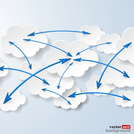 Cloud computing and social networks concept.  Stock Vector - 18405684
