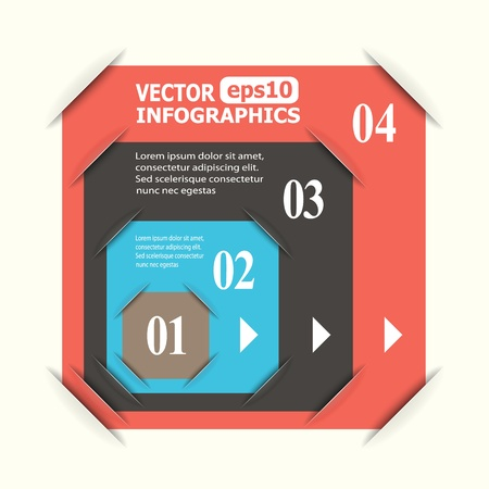Abstract paper infografics. Stock Vector - 18405666