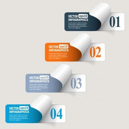 Abstracte document infografics.