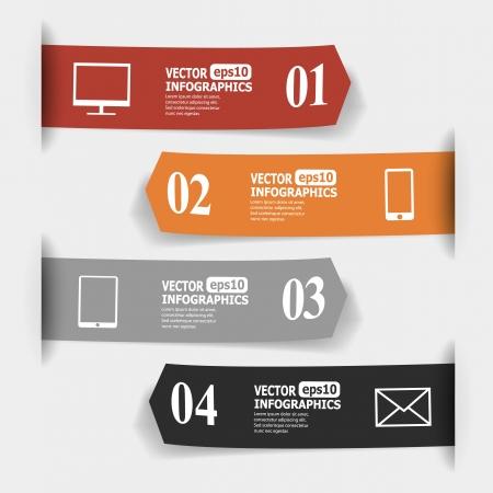 pfeil: Abstrakte Papier infografics.