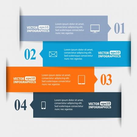 interaccion social: Infografics papel abstractos. Vectores