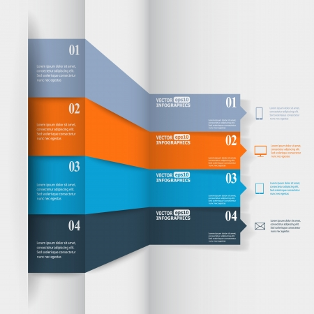 Abstract paper infografics. Illustration