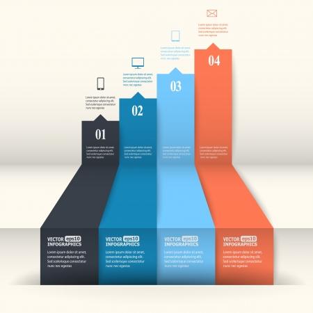 advertising media: Abstract paper infografics.  Illustration