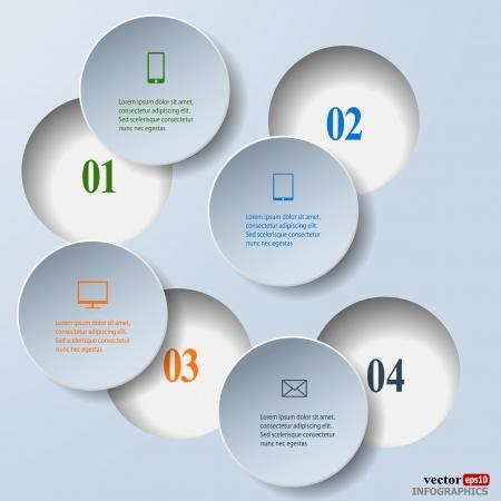 抽象的な紙の infografics。内部および外部データの概念。