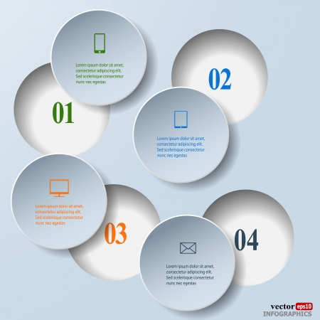 communication concept: Abstract paper infografics. Internal and external data concept.  Illustration