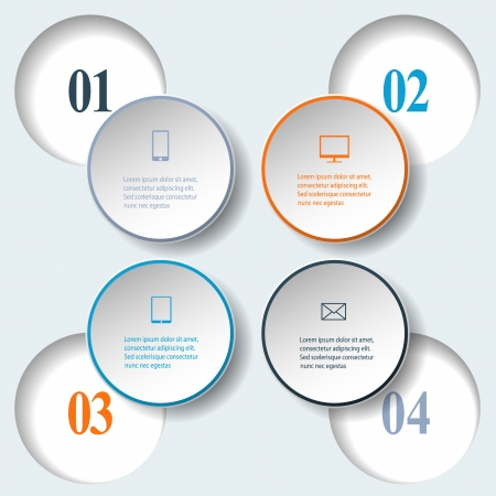 Abstract paper infografics. Internal and external data concept. Vector