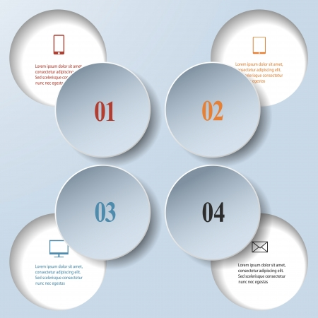 publicidad exterior: Infografía de papel abstractos. Interna y el concepto de datos externo.