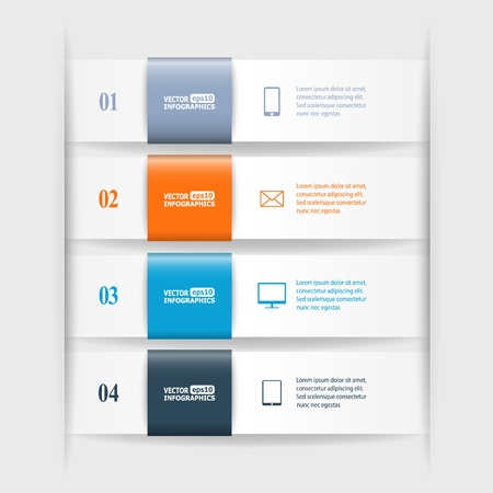 Modern business infographic banners from paper.   Vector