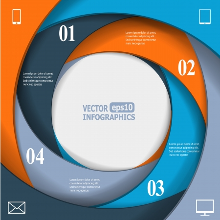 Modern business infographic banner.   Vector