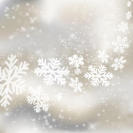 Fondo de Navidad. Diseño abstracto del invierno con las estrellas y los copos de nieve.