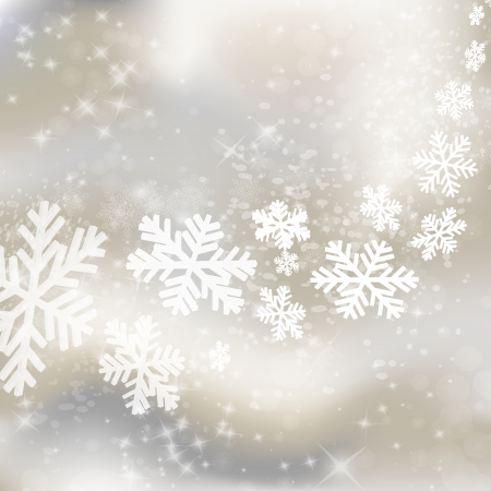 Xmas background. Abstract winter design with stars and snowflakes.