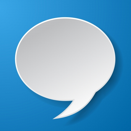 eps10 vector: Abstract paper speech bubble on blue background. Vector eps10 illustration