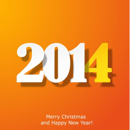 Modern Merry Christmas and Happy New Year greeting card. Vector eps10 illustration Stock Vector - 24391983