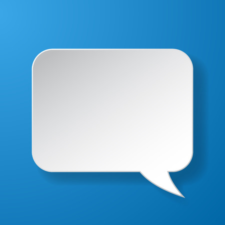 idea bubble: Abstract paper speech bubble on blue illustration