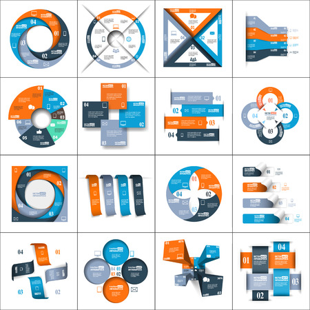 Modern paper infographics set for ebusiness diagrams charts web sites mobile applications banners corporate brochures book covers layouts presentations etc.