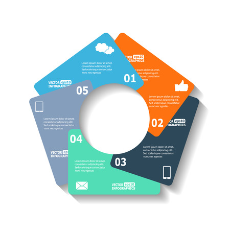 web sites: Modern circle infographics for ebusiness diagrams charts web sites mobile applications banners corporate brochures book covers layouts presentations etc. Illustration