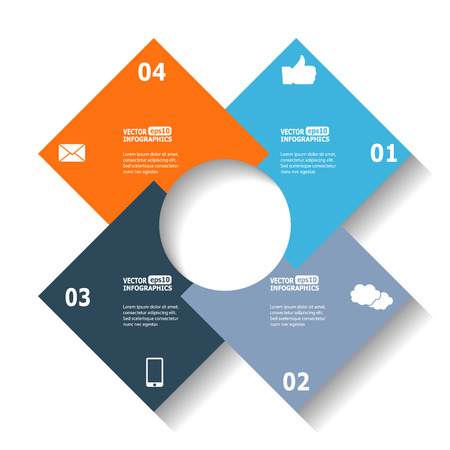 ebusiness: Modern circle infographics for ebusiness diagrams charts web sites mobile applications banners corporate brochures book covers layouts presentations etc. Illustration