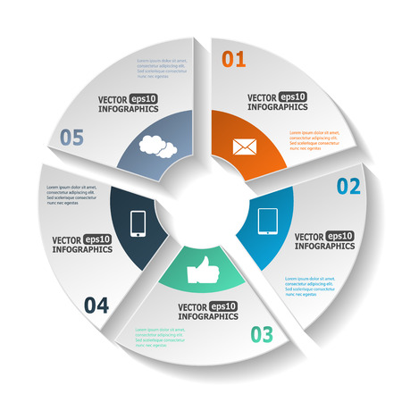 ebusiness: Modern circle infographics for ebusiness diagrams charts web sites mobile applications banners corporate brochures book covers layouts presentations etc.
