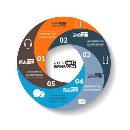 web sites: Modern circle infographics for ebusiness diagrams charts web sites mobile applications banners corporate brochures book covers layouts presentations etc.
