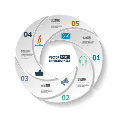 gestion empresarial: Modernos infografía círculo para gráficos diagramas ebusiness sitios web aplicaciones móviles banderas folletos corporativos cubiertas de libro presentaciones layouts etc.