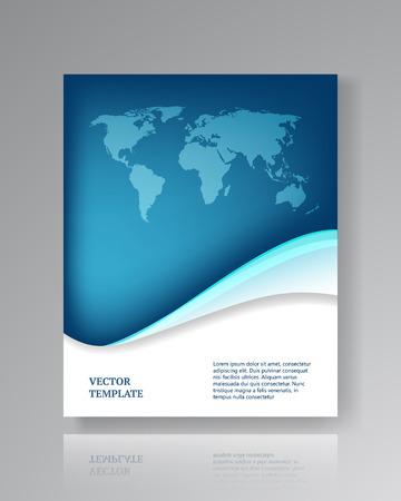Moderne papieren sjabloon voor flyers corporate brochures boekomslagen layouts presentaties etc.