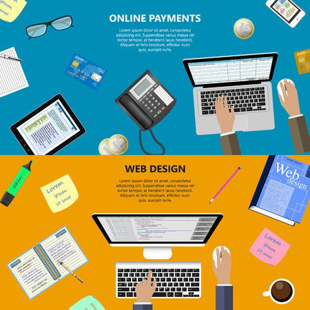 ebusiness: Modern flat design web design and online payments concept for ebusiness web sites mobile applications banners corporate brochures book covers layouts etc.