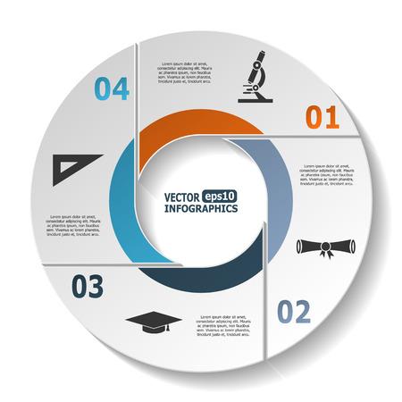 portadas de libros: Modernos infografía círculo para gráficos diagramas ebusiness sitios web aplicaciones móviles banderas folletos corporativos cubiertas de libro presentaciones layouts etc.