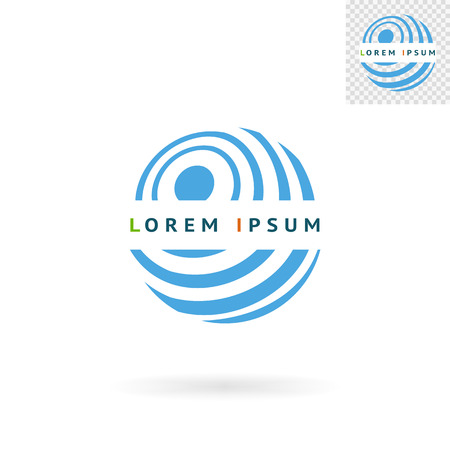 abstract logos: Modern abstract blue round sign for logos banners layouts corporate  brochures templates and internet web sites.