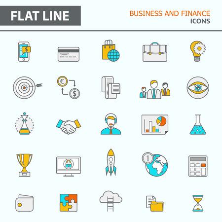 Ensemble d'icônes de lignes modernes et simples dans le design plat.