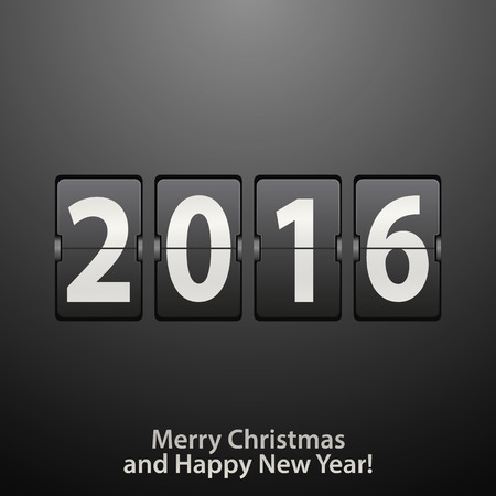 new year counter: Abstract black and white New Year counter. Vector  illustration Illustration