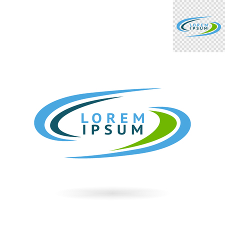 web sites: Modern abstract green blue round sign for logos, banners, layouts, corporate  brochures, templates and internet web sites. Vector eps10 illustration