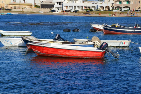 seaport: boats in the seaport Editorial