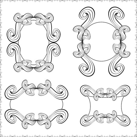 Vintage ornate frame.Template classic frames for your design. Spase for your text. Vector