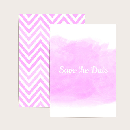 Watercolor art. Vector  set of pink  invitation cards. Wedding invitation,greeting card. Place for your text. Vector