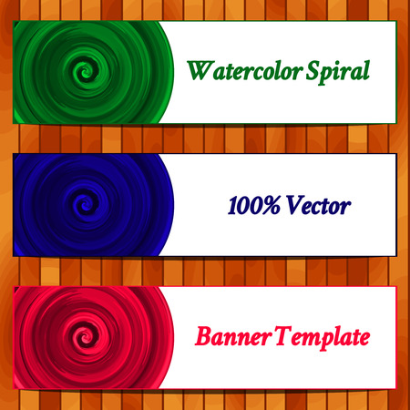 maelstrom: Vector Illustration of set  watercolor banners.  Watercolor background. Business texture background. Illustration
