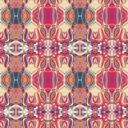 edad media: Colorido Edad Media patr�n abstracto sin fisuras de la fantas�a.