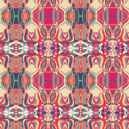 ages: Fantasy colorful Middle Ages abstract seamless pattern.