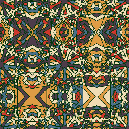 Fantasy Middle Ages abstract seamless pattern.
