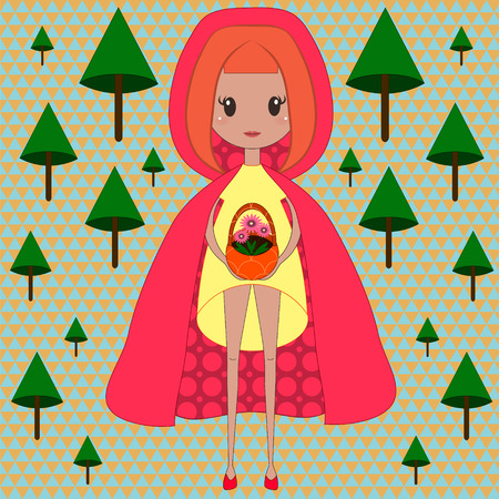 hood: Illustration of little red riding hood