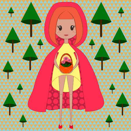 little red riding hood: Illustrazione di Cappuccetto Rosso