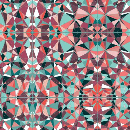 tessellated: Mosaic stained glass  pattern. Retro design.Polygonal Mosaic Background, Vector illustration. Abstract backdrop. Diamond pattern. Seamless pattern. Illustration
