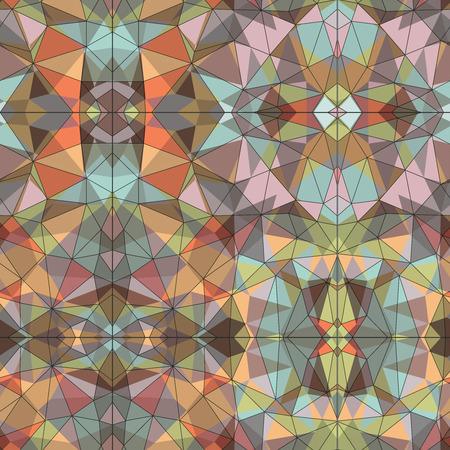 tessellated: Mosaic vector seamless pattern Illustration