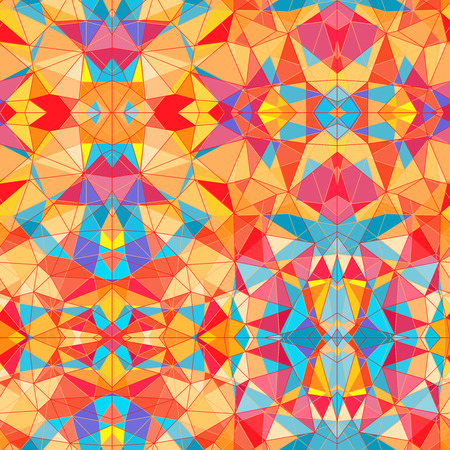 tessellated: Mosaic vector seamless pattern Illustration