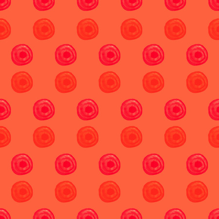 transition: Bright orange seamless pattern with watercolor circles. Transition colors. Illustration