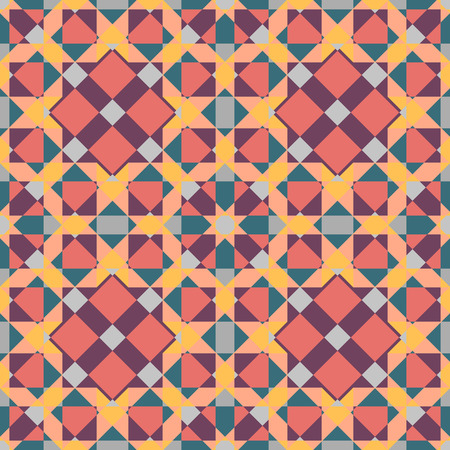 tessellated: Mosaic seamless background.Retro design.Multicolored geometric pattern. Vector illustration.