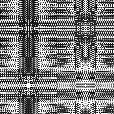 Fantasy abstract seamless pattern made with ink.Black and white modern background. Vector