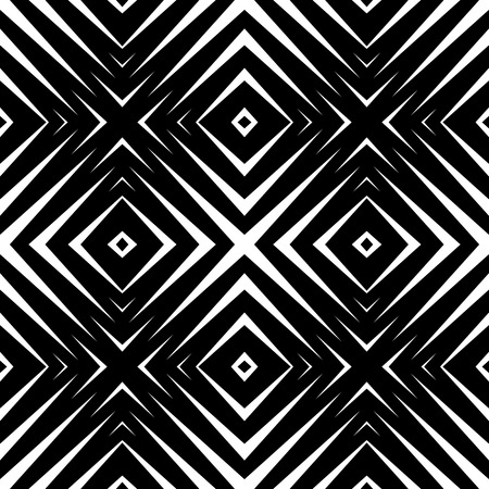 Abstract geometric seamless pattern. Simple black and white background.Vector illustration. Modern design.