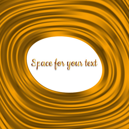 silken: Abstract background with texture of silk. Gold frame.Vector illustration. Satin texture. Editable template.Place for your text. Illustration